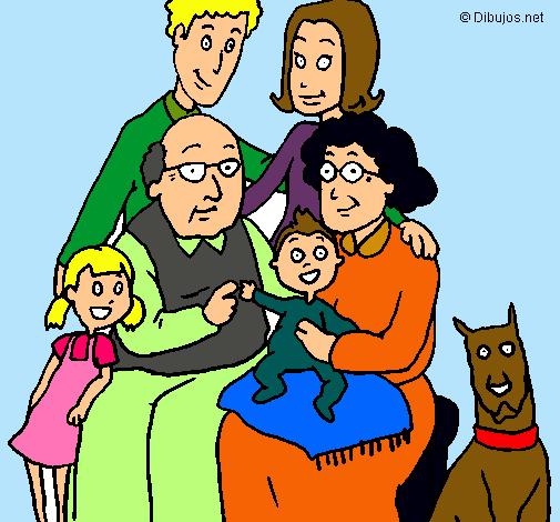 Dibujo de Familia pintado por Amor en Dibujosnet el da 290111