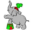 Dibujo Elefante pintado por elefante