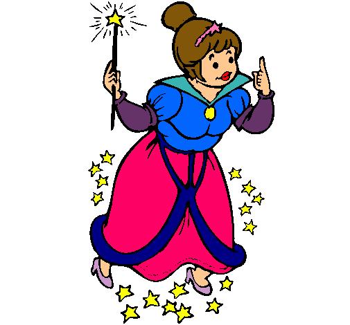 Dibujo de Hada madrina pintado por Vrenda en Dibujosnet el da 24