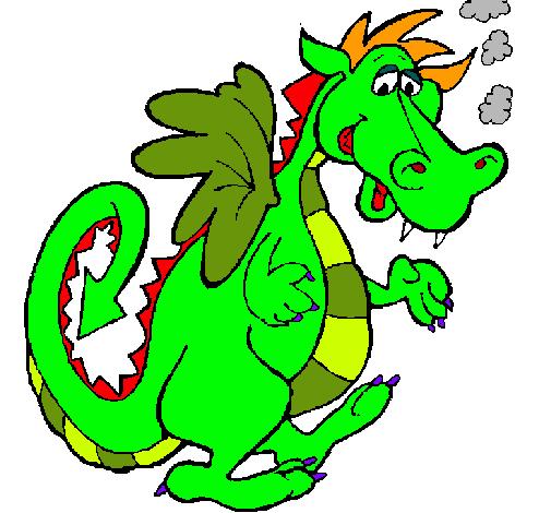 Dibujo de Dragn ahumado pintado por Puff en Dibujosnet el da 02