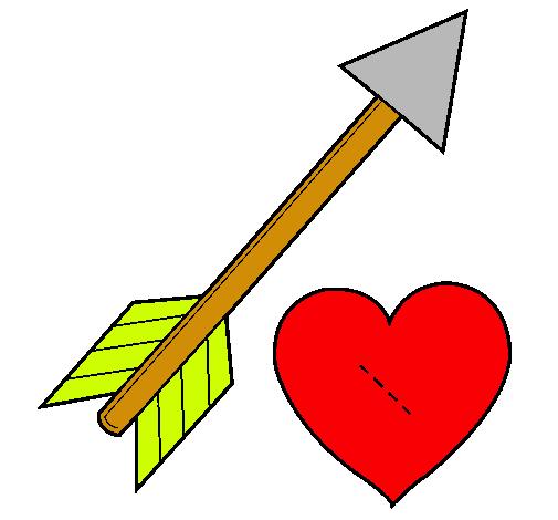 Dibujo de Flecha y corazn pintado por Zapatero en Dibujosnet el