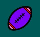 Dibujo Pelota de fútbol americano II pintado por familia