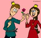 Dibujo Príncipe con una flor pintado por Crisma
