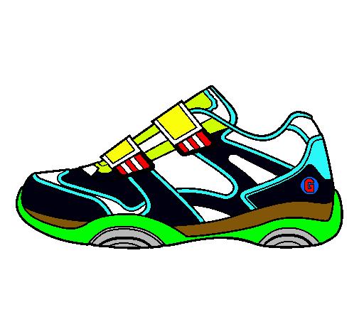 Dibujo de Zapatilla pintado por Zapatillas en Dibujos.net el día ...