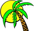 Dibujo Verano pintado por palmera