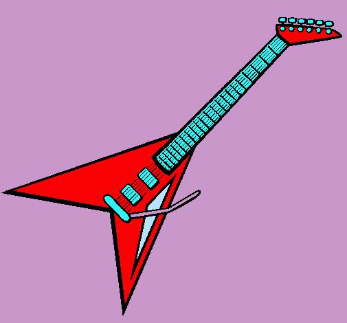 Dibujo de Guitarra elctrica II pintado por Rock en Dibujosnet el