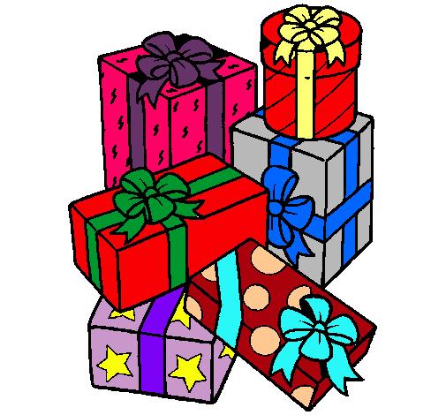 Dibujo de una monta a de regalos pintado por cathaa en - Dibujos en color de navidad ...