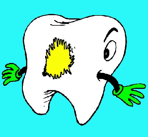 Caries Dental Dibujos Para Colorear Con Caries Para Colorear