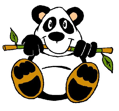 Dibujo de Oso panda pintado por Neladf13 en Dibujosnet el da 27