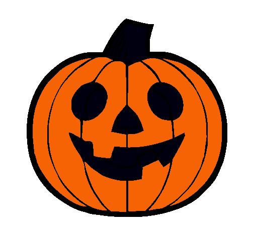 Dibujo de calabaza iv pintado por lucianna en - Pintar una calabaza de halloween ...