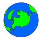 Dibujo Planeta Tierra pintado por tierra