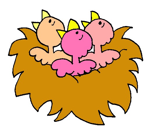 Dibujo de Nido de pájaritos pintado por Pajaritos en ...