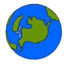 Dibujo Planeta Tierra pintado por mundo