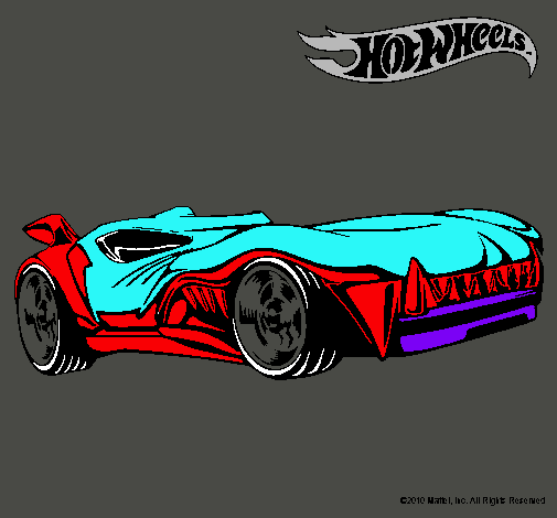 Dibujo de Hot Wheels 3 pintado por Carro en Dibujosnet el da 04