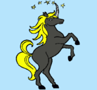 Dibujo Unicornio pintado por veneno