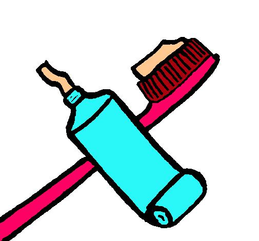 Dibujo de Cepillo de dientes pintado por India en Dibujosnet el