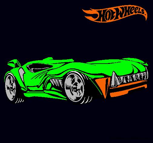Dibujo de Hot Wheels 3 pintado por Auto en Dibujosnet el da 05