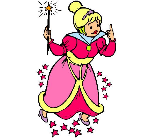 Dibujo de Hada madrina pintado por Rinka en Dibujosnet el da 03