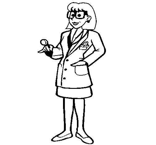 Doctora con gafas