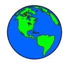 Dibujo Planeta Tierra pintado por KATIUSKA