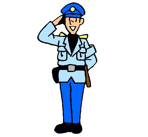Dibujo de Policía saludando pintado por Policia en Dibujos ...
