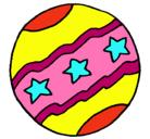 Dibujo Pelota grande pintado por pelota