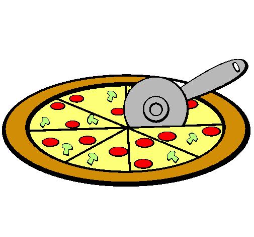 Dibujo de Pizza pintado por Pizzas en Dibujosnet el da 230311