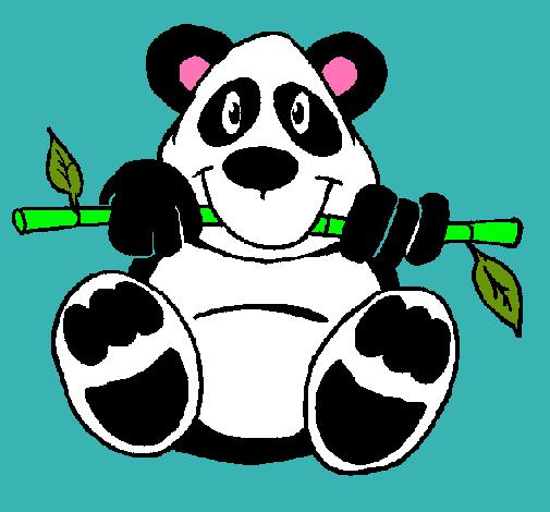 Dibujo de Oso panda pintado por Fashionitza en Dibujosnet el da