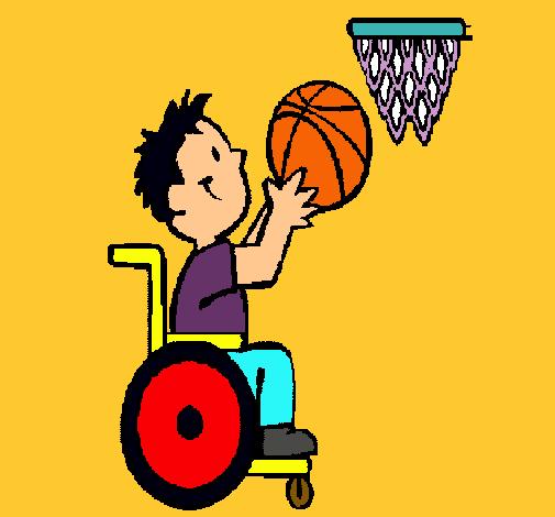 Dibujo de b squet en silla de ruedas pintado por baloncesto en el d a 29 03 11 a las - Baloncesto silla de ruedas ...