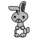 Dibujo Art el conejo pintado por color