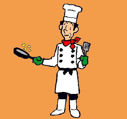 Dibujo de cocinero cocinando pintado por cocinero en for Herramientas de un cocinero