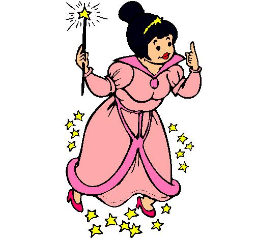 Dibujo de Hada madrina pintado por Noeliamaria en Dibujosnet el