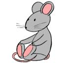 Dibujo Rata sentada pintado por changos