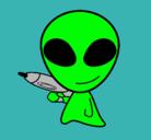 Dibujo Alienígena II pintado por marciano