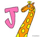 Dibujo Jirafa pintado por changos