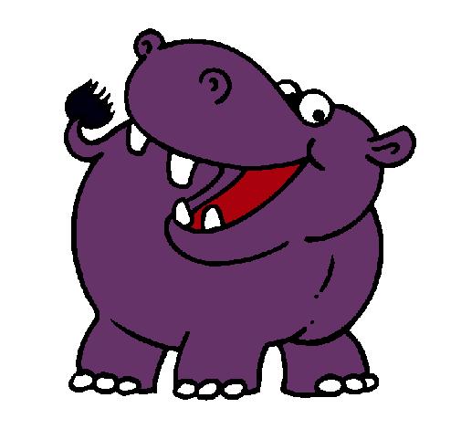 Dibujo de Hipoptamo pintado por Hipopotamo en Dibujosnet el da