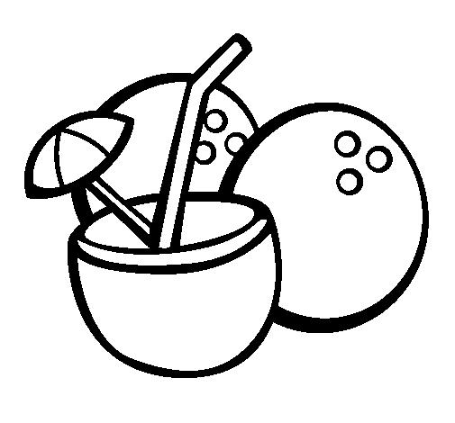 Dibujo De Cóctel Y Pastel Para Colorear Dibujos Para Colorear