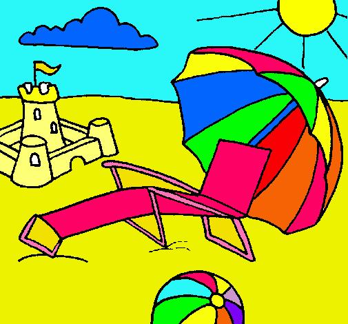 Dibujo de Playa pintado por Zuly en Dibujosnet el da 110411 a