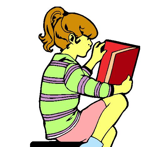 Dibujo de Nia leyendo pintado por Chummy en Dibujosnet el da 13