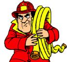 Dibujo Bombero pintado por bombero