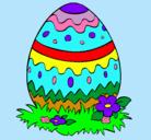 Dibujo Huevo de pascua 2 pintado por friss