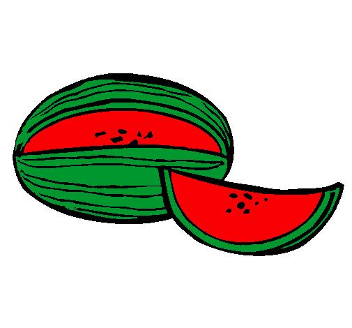 Dibujo de Meln pintado por Sandia en Dibujosnet el da 220411