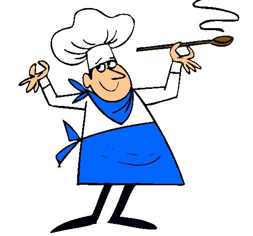 Dibujo de cocinero ii pintado por cocinero en for Herramientas de un cocinero