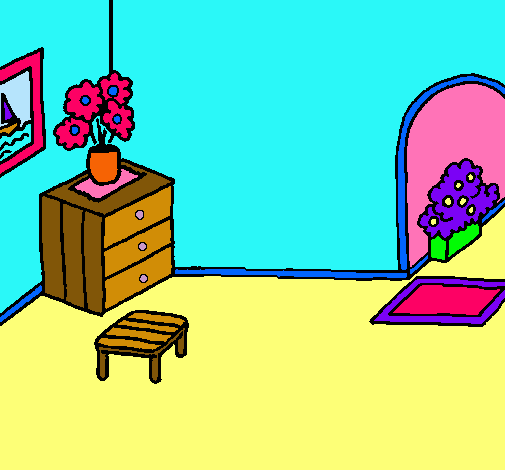 Dibujo De Casa Por Dentro Pintado Por Franyer En Dibujos