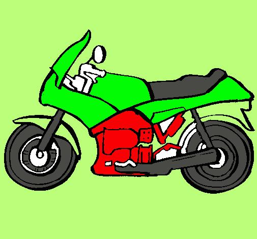 Dibujo de Motocicleta pintado por Motora en Dibujosnet el da 07
