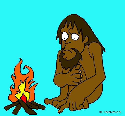 Dibujo de Descubrimiento del fuego pintado por Chis en Dibujosnet