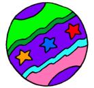 Dibujo Pelota grande pintado por pelotas