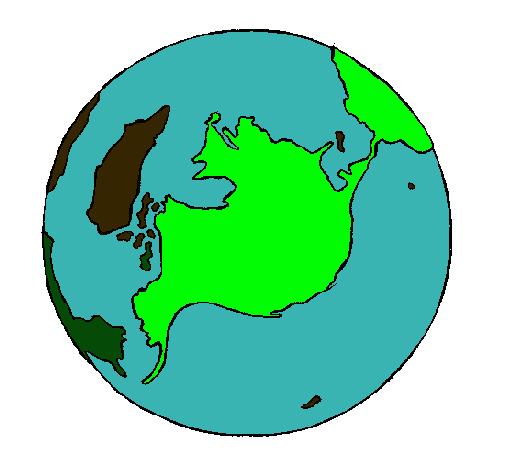 Dibujo de Planeta Tierra pintado por Mapamundi en Dibujos.net el ...