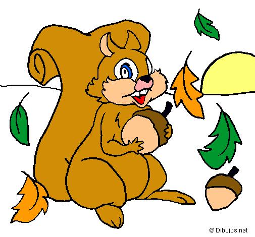Dibujo de Ardilla pintado por Ardillita en Dibujosnet el da 14