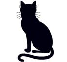 Dibujo Felino pintado por silueta